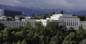 Il Palazzo delle Nazioni Unite di Ginevra, veduta aerea