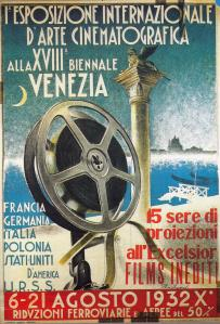 prima locandina mostra cinema 1932