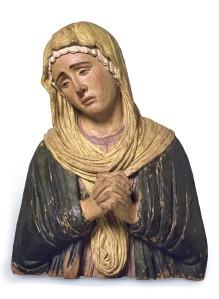 Andrea Brioso detto il Riccio (Padova o Trento, 1470 – Padova, 1532), Maria dolenti Terracotta policroma