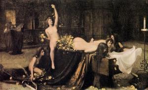 Giacomo Grosso, Supremo Convegno, Ptrima Biennale Venezia 1895, archivio