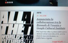 Google Biennale al via