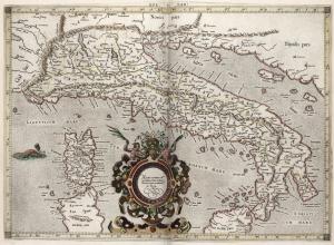 1618_Claudio Tolomeo, Italia Antiqua, in Hondius, Theatrum